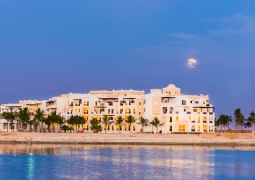 Fanar hotel from the marina and sea