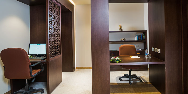 offices inside the business center of fanar hotel and residences in hawana salalah