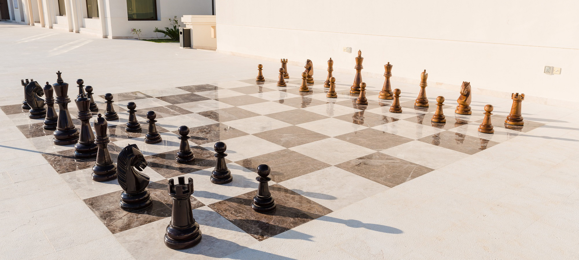 giant chess board at fanar hotel and residences in salalah oman