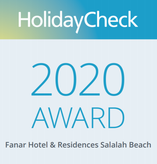 holiday check 2020 award for fanar hotel and residences in salalah oman